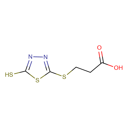 3-(5-Mercapto-1,3,4-thiadiazol-2-ylthio)propionic acid