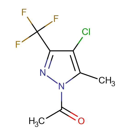 1-Acetyl-4-chloro-5(3)-methyl-3(5)-trifluoromethylpyrazole