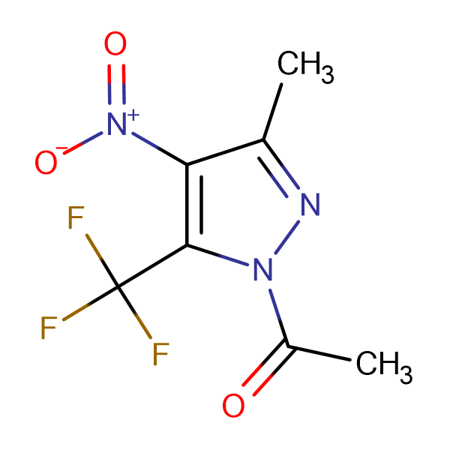 1-Acetyl-3-methyl-4-nitro-5-(trifluoromethyl)-1H-pyrazole