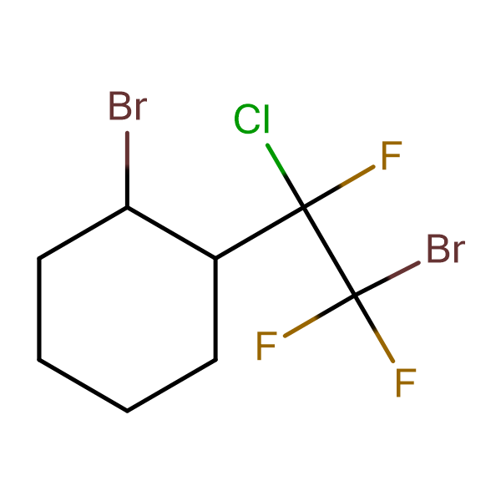 1-Bromo-2-(2-bromo-1-chlorotrifluoroethyl)cyclohexane