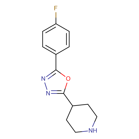 4-[5-(4-Fluorophenyl)-1,3,4-oxadiazol-2-yl]piperidine
