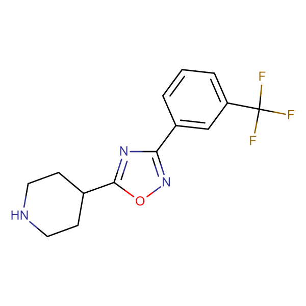 4-[3-(3-(Trifluoromethyl)phenyl)-1,2,4-oxadiazol-5-yl]piperidine