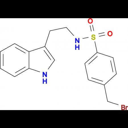 ((4-(Bromomethyl)phenyl)sulfonyl)(2-indol-3-ylethyl)amine