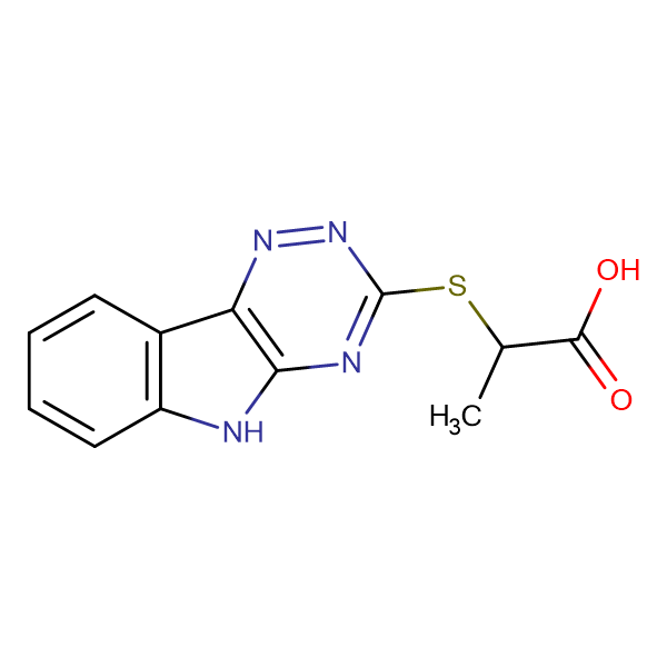 2-(2,3,6-Triazino[5,4-b]indol-3-ylthio)propanoic acid