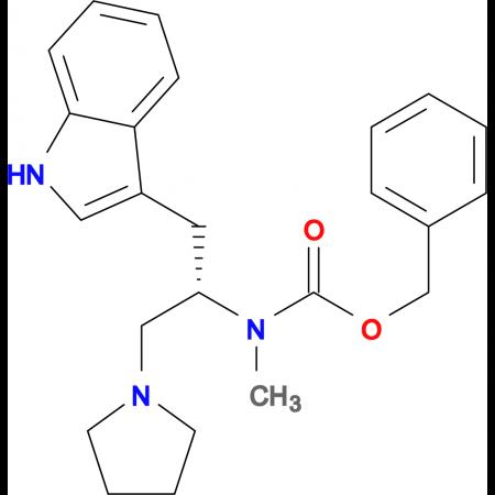 (S)-1-Pyrrolidin-2-(1'-H-indol-3'ylmethyl)-2-(N-Cbz-N-methyl)amino-ethane