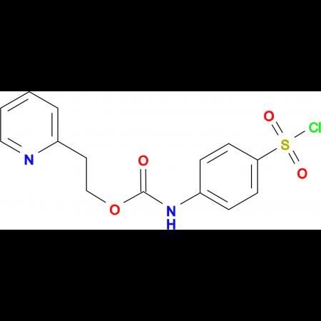 (4-Chlorosulfonylphenyl)carbamic acid 2-pyridin-2-yl-ethyl ester