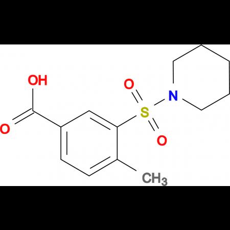 4-Methyl-3-(piperidine-1-sulfonyl)benzoic acid