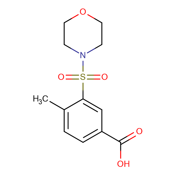 4-Methyl-3-(morpholine-4-sulfonyl)benzoic acid