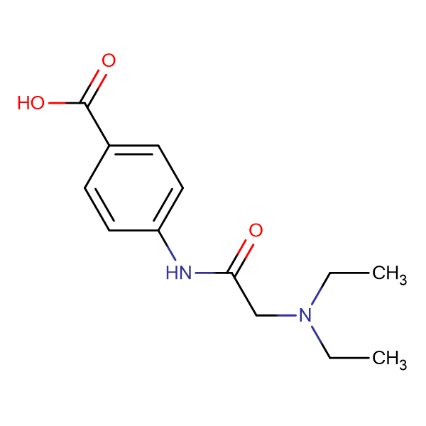 4-(2-Diethylaminoacetylamino)benzoic acid