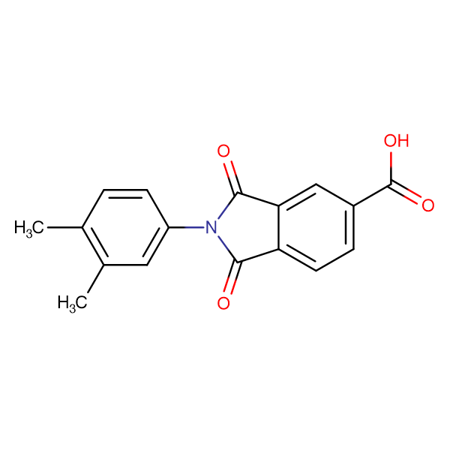 2-(3,4-Dimethylphenyl)-1,3-dioxo-2,3-dihydro-1H-isoindole-5-carboxylic acid