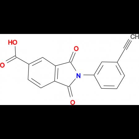 2-(3-Ethynylphenyl)-1,3-dioxo-2,3-dihydro-1H-isoindole-5-carboxylic acid