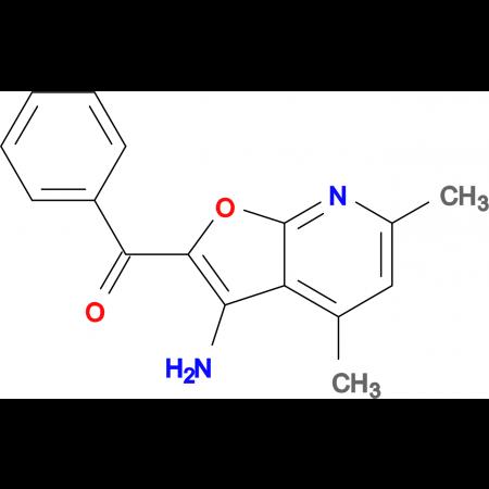 (3-Amino-4,6-dimethyl-furo[2,3-b]pyridin-2-yl)-phenyl-methanone