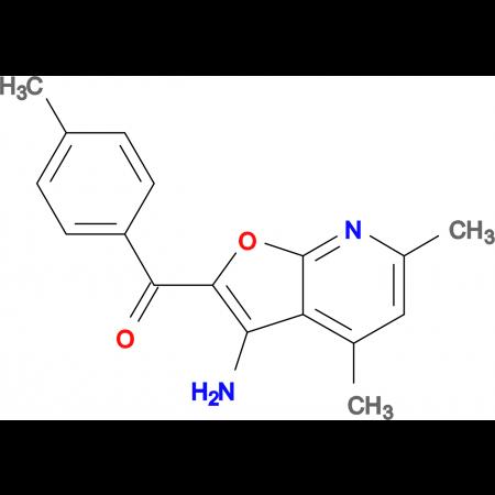 (3-Amino-4,6-dimethyl-furo[2,3-b]pyridin-2-yl)-p-tolyl-methanone