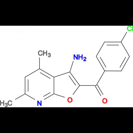 (3-Amino-4,6-dimethyl-furo[2,3-b]pyridin-2-yl)-(4-chloro-phenyl)-methanone