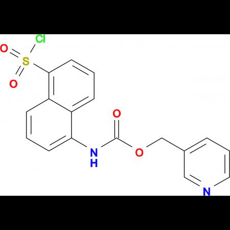 (5-Chlorosulfonyl-naphthalen-1-yl)-carbamic acidpyridin-3-ylmethyl ester