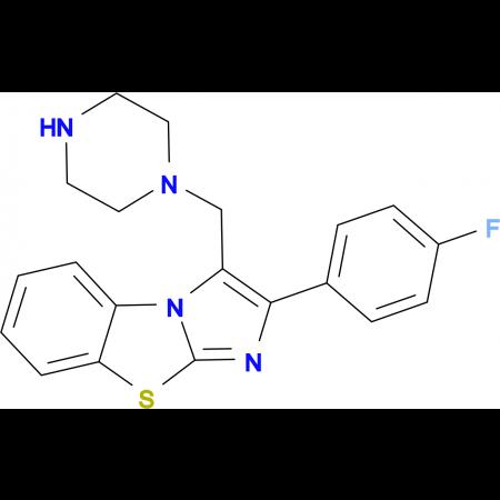 2-(4-Fluoro-phenyl)-3-piperazin-1-ylmethyl-benzo-[d]imidazo[2,1-b]thiazole