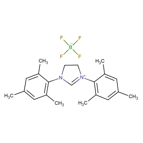 1,3-Bis-(2,4,6-trimethyl-phenyl)-4,5-dihydro-3H-imidazol-1-ium tetrafluoro borate