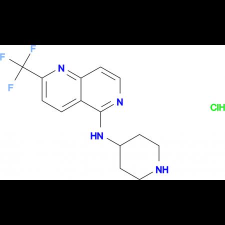N-Piperidin-4-yl-2-(trifluoromethyl)-1,6-naphthyridin-5-amine hydrochloride monohydrate