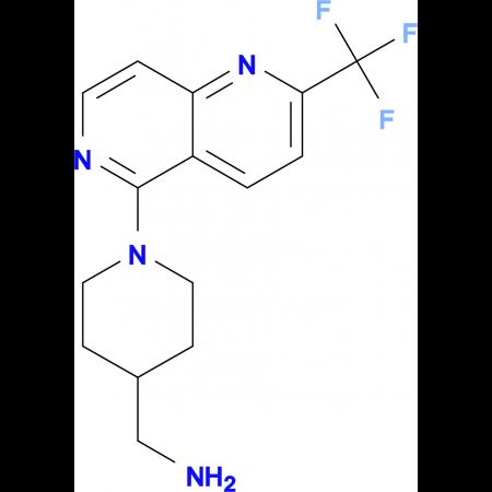 1-{1-[2-(Trifluoromethyl)-1,6-naphthyridin-5-yl]piperidin-4-yl}methanamine