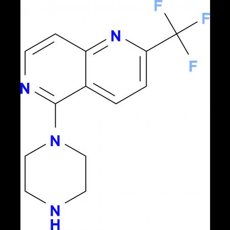 5-Piperazin-1-yl-2-(trifluoromethyl)-1,6-naphthyridine