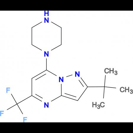 2-(tert-Butyl)-7-piperazino-5-(trifluoromethyl)pyrazolo[1,5-a]pyrimidine