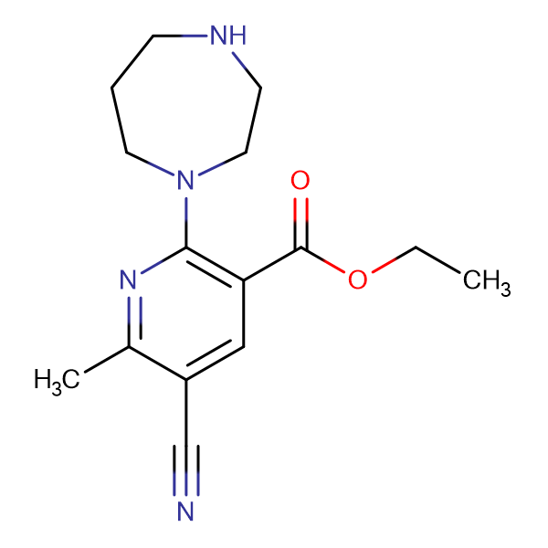 Ethyl 5-cyano-6-methyl-2-homopiperazinonicotinate