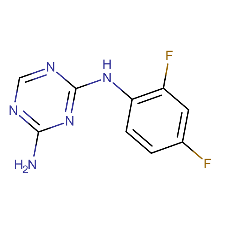 2-Amino-4-(2,4-difluorophenylamino)-1,3,5-triazine