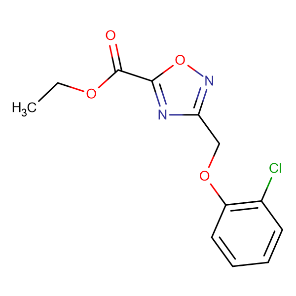 Ethyl 3-(2-chlorophenoxy)methyl-1,2,4-oxadiazole-5carboxylate