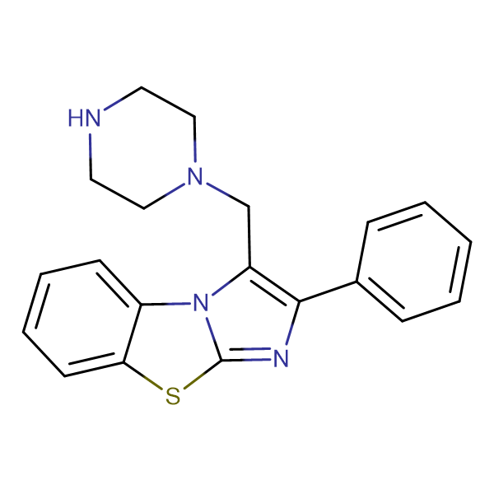 2-Phenyl-3-piperazin-1-ylmethyl-benzo[d]imidazo-[2,1-b]thiazole