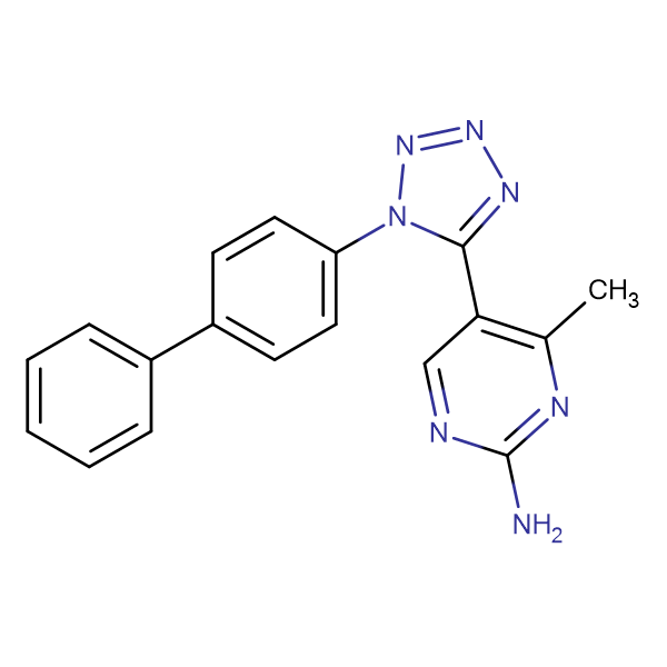 5-(1-Biphenyl-4-yl-1H-tetrazol-5-yl)-4-methyl-pyrimidin-2-ylamine