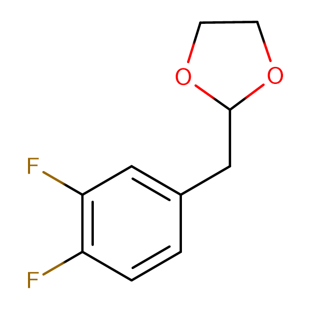 1,2-Difluoro-4-(1,3-dioxolan-2-ylmethyl)benzene
