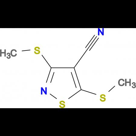 3,5-Bis(methylthio)isothiazole-4-carbonitrile