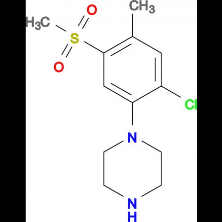 1-[2-Chloro-4-methyl-5-(methylsulfonyl)phenyl]piperazine