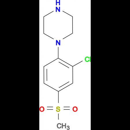 1-[2-Chloro-4-(methylsulfonyl)phenyl]piperazine