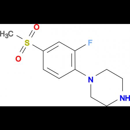 1-[2-Fluoro-4-(methylsulfonyl)phenyl]piperazine
