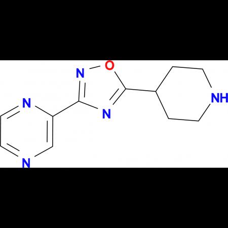 2-(5-Piperidin-4-yl-1,2,4-oxadiazol-3-yl)pyrazine