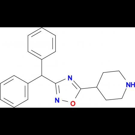 4-(3-Benzhydryl-1,2,4-oxadiazol-5-yl)piperidine
