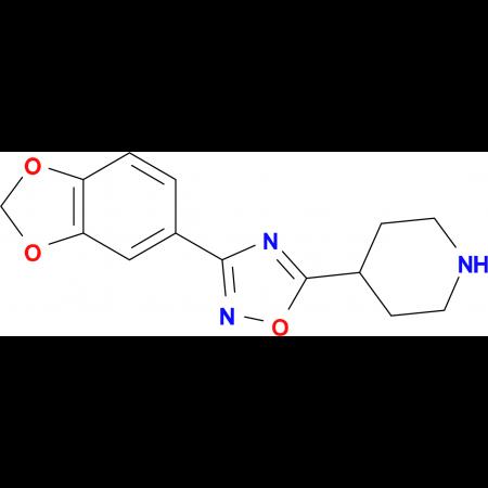 4-[3-(1,3-Benzodioxol-5-yl)-1,2,4-oxadiazol-5-yl]piperidine