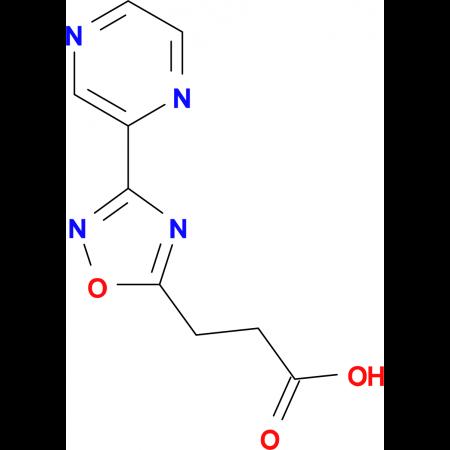 3-(3-Pyrazin-2-yl-1,2,4-oxadiazol-5-yl)propanoic acid
