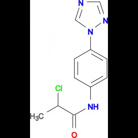 2-Chloro-N-(4-[1,2,4]triazol-1-yl-phenyl)-propionamide