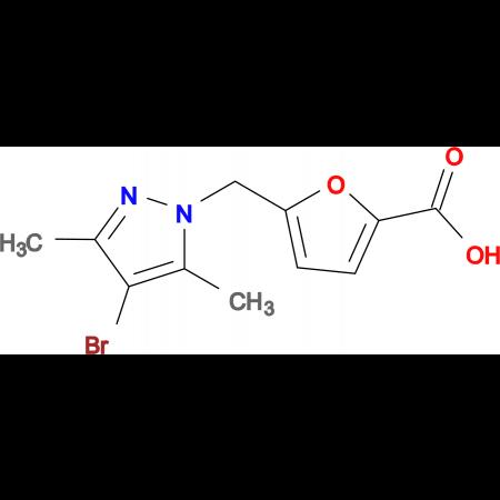 5-(4-Bromo-3,5-dimethyl-pyrazol-1-ylmethyl)-furan-2-carboxylic acid
