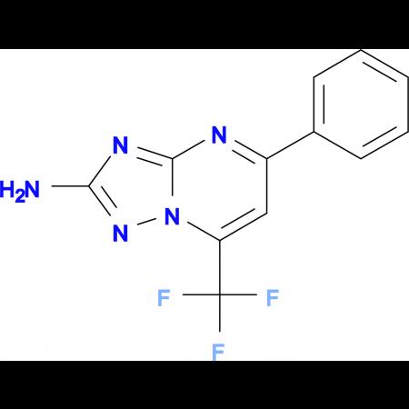 5-Phenyl-7-trifluoromethyl-[1,2,4]triazolo[1,5-a]-pyrimidin-2-ylamine