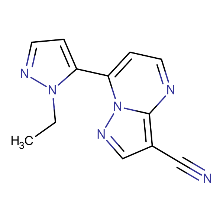 7-(2-Ethyl-2H-pyrazol-3-yl)-pyrazolo[1,5-a]-pyrimidine-3-carbonitrile