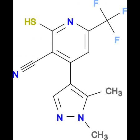 4-(1,5-Dimethyl-1H-pyrazol-4-yl)-2-mercapto-6-trifluoromethyl-nicotinonitrile
