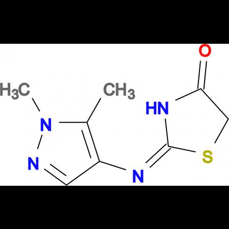 2-(1,5-Dimethyl-1H-pyrazol-4-ylimino)-thiazolidin-4-one