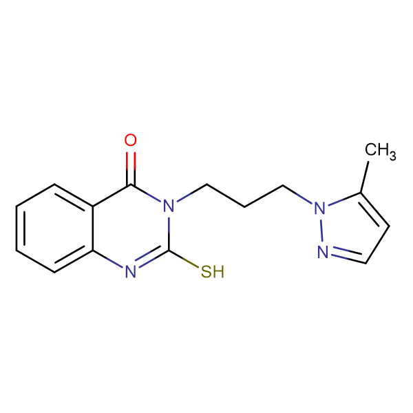 2-Mercapto-3-[3-(5-methyl-pyrazol-1-yl)-propyl]-3H-quinazolin-4-one