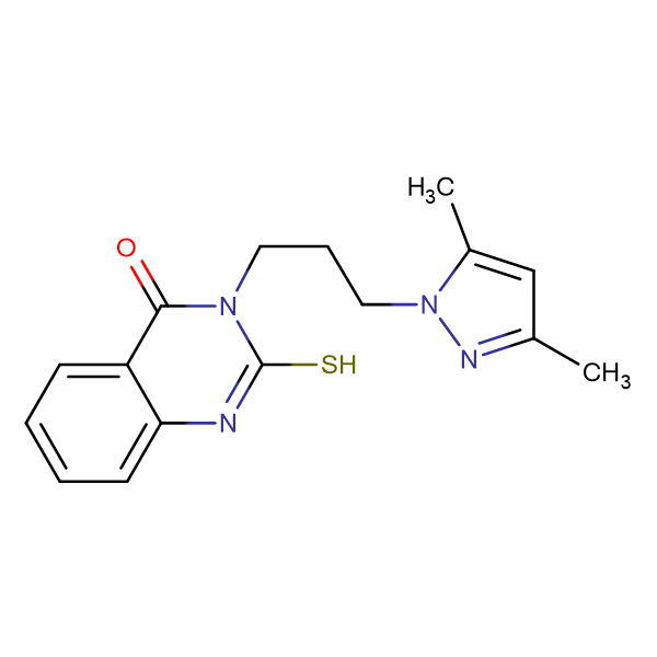 3-[3-(3,5-Dimethyl-pyrazol-1-yl)-propyl]-2-mercapto-3H-quinazolin-4-one