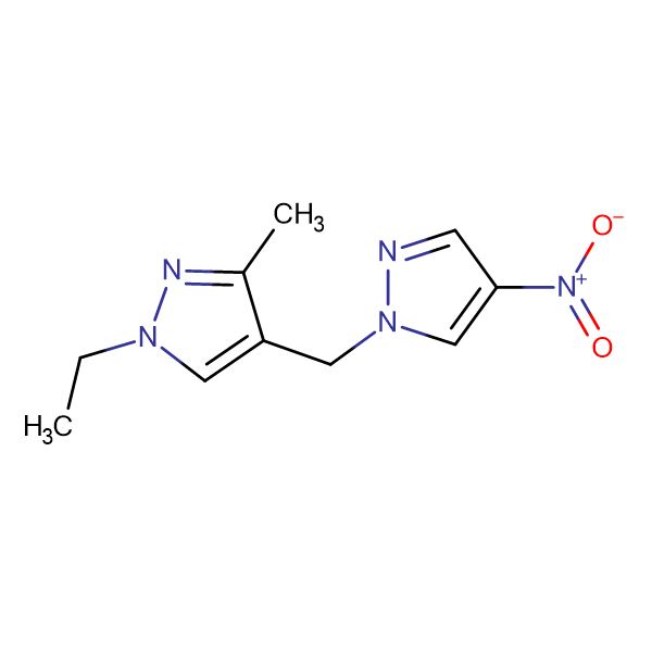 1-Ethyl-3-methyl-4-(4-nitro-pyrazol-1-ylmethyl)-1H -pyrazole