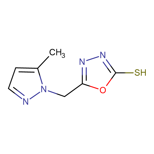 5-(5-Methyl-pyrazol-1-ylmethyl)-[1,3,4]oxadiazole-2-thiol