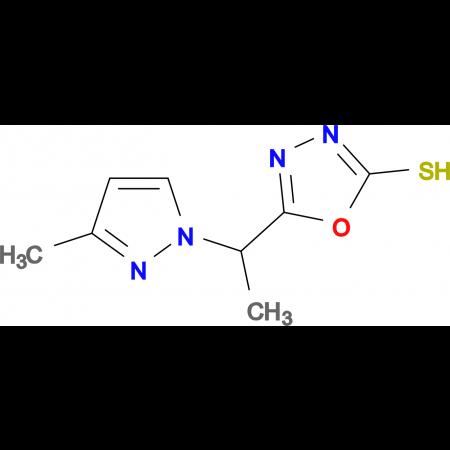 5-[1-(3-Methyl-pyrazol-1-yl)-ethyl]-[1,3,4]-oxadiazole-2-thiol